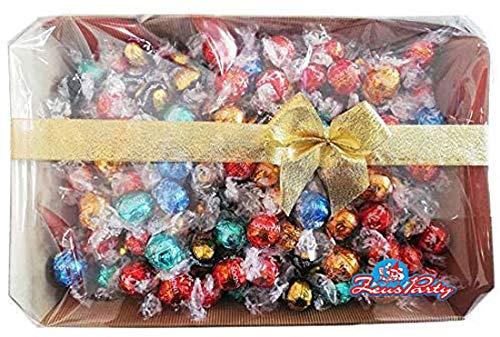 Mix di cioccolatini assortiti Lindt, confezione con elegante scatola REGALO da 500 GR, tantissimi gusti provali tutti! idea regalo natale,san valentino
