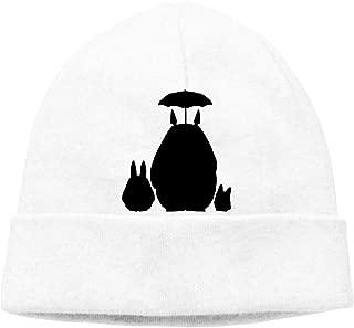 My Neighbor Totoro Bat Mens Womens Adult Unisex Watch Cap Beanie Hat White