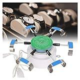 ZRNG Professionnel en Alliage Montre mécanique d'essai Winder Machine de réparation Automatique Remontoir Outil Tenir 6 Montres EU Plug 220 V
