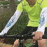 Qaz Radfahren atmungsaktive Sonnenschutzhüllen aus Seide Outdoor Polyester UV-Schutz Sport Fahrrad Wandern Laufbänder (Color : A, Size : L)