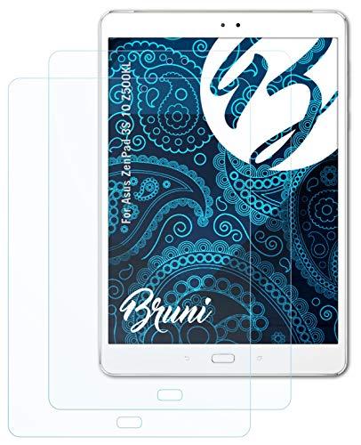Bruni Schutzfolie kompatibel mit Asus ZenPad 3S 10 Z500KL Folie, glasklare Bildschirmschutzfolie (2X)