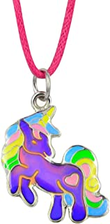 Fairy Tale Cute Unicorn Pendant Children Color Change Mood Necklace Gift For Girls