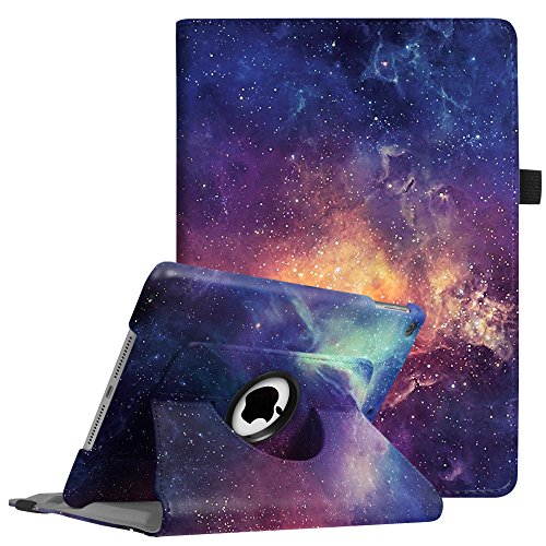 FINTIE Rotating Case for iPad 9.7 2018 2017(6th Gen, 5th Gen)/iPad Air 2/iPad Air - 360 Degree Swivel Stand Smart Protective Cover, with Auto Sleep Wake Feature, Galaxy