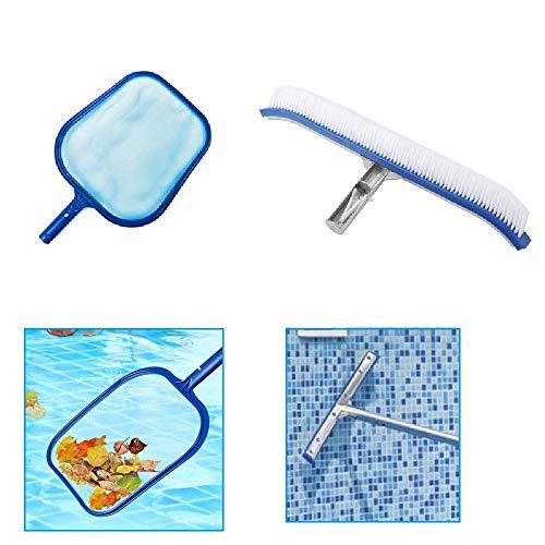 NEW ADAPT 18 Zoll Pool Wandreinigungsbürsten-Kit Leaf Net Catcher Spa Reinigungswerkzeug Für Schwimmbad, Teich, Spa, Heiße Quelle