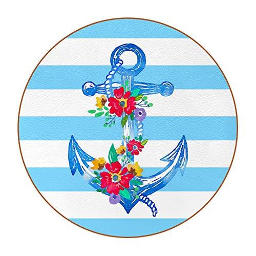 6 posavasos con imagen y texto personalizables para inauguración de la casa, regalos de anfitriona, decoración de boda, decoración de habitación, flores de ancla