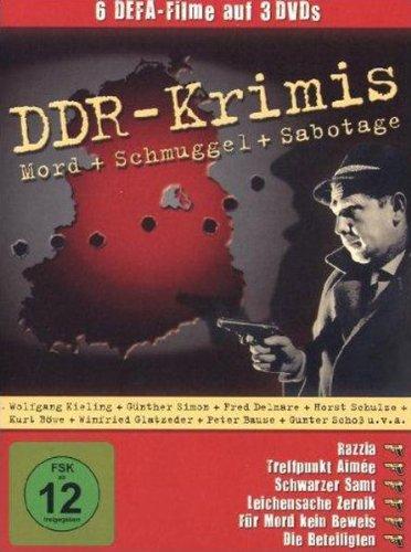 DDR Krimis (6 Filme - 3 DVDs / Razzia, Treffpunkt Aimee, Schwarzer Samt, Leichensache Zernik, Für Mord kein Beweis, Die Beteiligten)