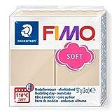 STAEDTLER 8020-70 - Fimo Soft Normalblock, Modelliermasse, 57 g, sahara