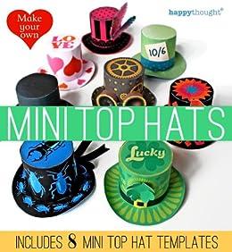 Mini paper top hats for parties (con imágenes)   Sombreros de papel,  Sombrero de copa, Manualidades   282x260