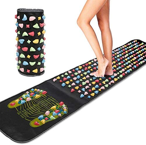HasgoFly Foot Massage Stone Mat Reflexology Mat Walk Foot Leg Pain Relieve Relief Walk Massager product image