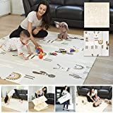 Foldable Play Mat - A Modern Design on One Side Reversible into Cute Llama Design on The Other. Our Soft Foam Kids Playmat is Great on The Floor for Baby and Toddlers, Crawling, Gym or Tummy Time