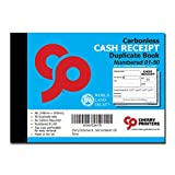 Image of Cherry Carbonless NCR Cash Receipt Duplicate Book A6 50 Sets Numbered 1-50
