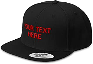 Snapback Hats for Men & Women Custom Personalized Text Flat Bill Baseball Cap