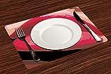 Manteles Individuales, Chicas, labios sensuales de una mujer boca con lápiz labial rojo e,Mantel Individual Antideslizante Lavable Resistente Al Calor para Hoteles Restaurante Catering (Paquete de 4)