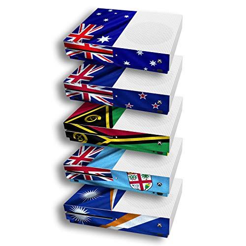 atFoliX Diseño Pegatina compatible con Microsoft Xbox One S, elija su diseño favorito, Design Skin (Banderas de Australia y Oceanía)