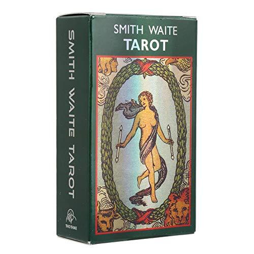 Årgång Tarotkort, Interaktiv Brädspel Divination Cards Deck med Blixteffekt, Tarotologi Universell Waite Tarot Spådom för Fest (Engelsk Version)