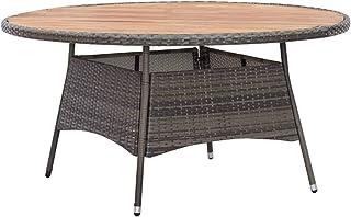 vidaXL Solid Acacia Wood Garden Table Outdoor Furniture Patio Balcony Porch Backyard Terrace Dinner Stand Grey 150x74cm Po...
