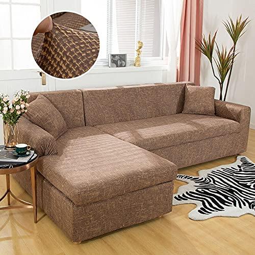 WXQY Fundas elásticas elásticas Antideslizantes Funda de sofá para Mascotas Funda de sofá Esquina en Forma de L Funda de sofá Antideslizante A10 3 plazas