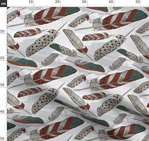 Boho, Bohemien, Wasserfarben, Hippie, Feder, Gemustert Stoffe - Individuell Bedruckt von Spoonflower - Design von Samposnick Gedruckt auf Sport Lycra