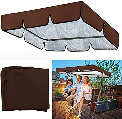 WAWMJSA Reemplazo del toldo Toldo para el balcón Swing Techo Universal Balcón Tarro Swing Nylon Impermeable y Resistente a UV Techo Switch Techo Tarpa para Swing Garden