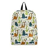 Mochila para ordenador portátil, mochila escolar, dinosaurio, linda bolsa de viaje para computadora portátil de 15,6 pulgadas