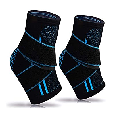 Plantar Fasciitis Socks(Pair), Compression Ankle Brace Sleeve with Arch Support for Eases Swelling Achilles Tendonitis Heel Spurs Swelling Foot Pain Relief (Black-Pair)