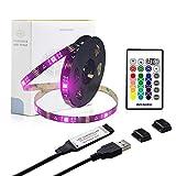 USB led Strip Lights kit 9.9ft for 32 to 60inch TV,WENICE tv Backlight with 24key IR Remote 16 Color 5050 LEDs Bias Lighting for HDTV