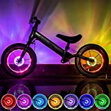 TriLance LED ahrradspeichenreflektor Fahrradlicht Fahrrad MTB STVZO Zugelassen Fahrradlampe Fahrrad Rad Speichenreflektoren Clip Tube für Kinder Erwachsene Fahrrad (Multicolor)