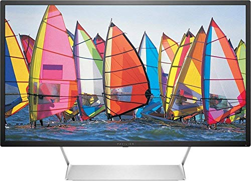 """2019 Newest HP - High Definition 32"""" LED QHD (2560×1440) Monitor, 2×HDMI, 3000:1 Contrast Ratio, 7 ms Response time"""