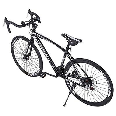 Aluminum Full Suspension Road Bike 21 Speed ??Disc Brakes, Commuter Bike, 700c
