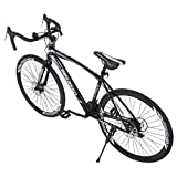 KAWACOTY Aluminum Full Suspension Road Bike,700C Racing Bicycle 21 Speed Disc Brakes, City Commuter Bicycle,Road Bicycle for Adults