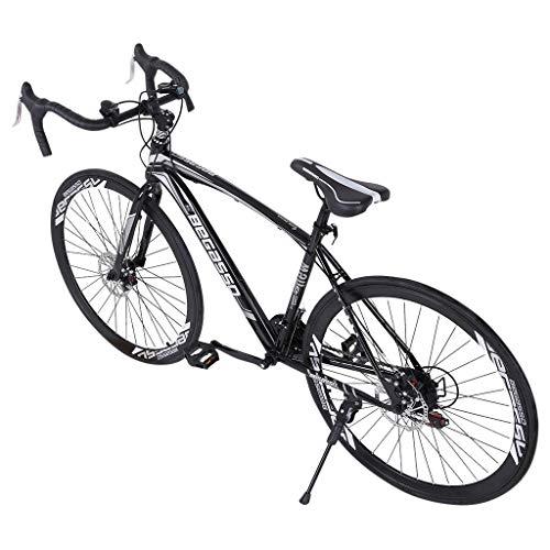 Aluminum Full Suspension Road Bike 21 Speed Disc Brakes, Commuter Bike, 700c