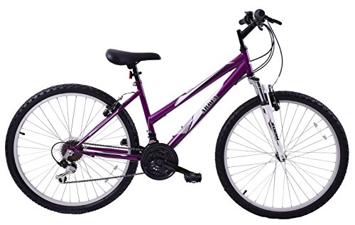 Arden Mountaineer 26' Wheel Front Suspension 16' Frame 21 Speed Womens Mountain Bike Purple