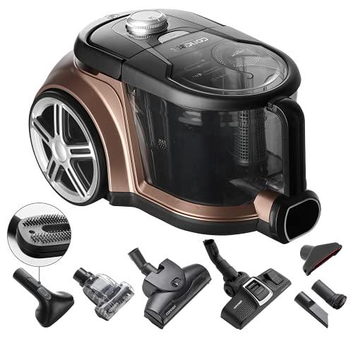 CONCEPT Hausgeräte Concept VP5240 Radical Pet Expert-Aspirador ciclónico con Filtro HEPA 13, AAA, Radio de acción 10 m, 72 dB, 2,5 L, 800 W, Bronce, plástico, marrón