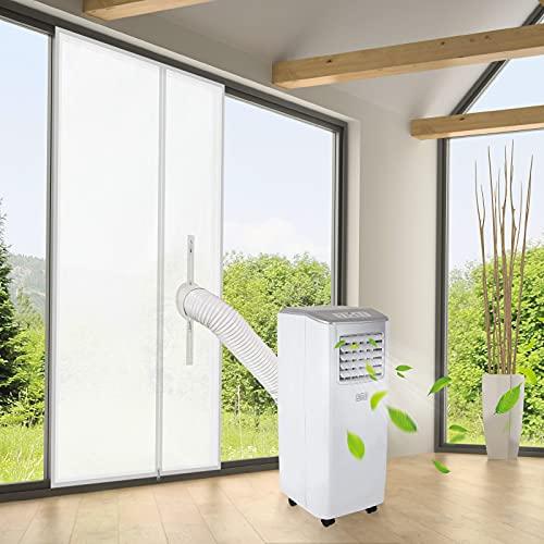 REDTRON Cubierta Aislante De Tela de 90x210 CM para Puertas con Salida de Aire Acondicionado Portátil y Secadoras, AirLock Sin Perforación Fácil de Instalar Kit de Ventilación de Puerta