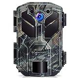 APEMAN Cámara de Caza 20MP 1080P HD 40 IR LED Trail Cámara de juego para nítido tiro nocturno y visión hasta 65 pies IP66 de diseño para Monitoreo de vida silvestre y seguridad en el hogar impermeable
