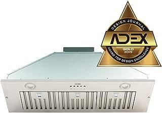 KOBE Range Hoods INX2936SQBF-500-1 Built-In/Insert Range Hood, 36