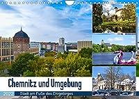 Chemnitz und Umgebung (Wandkalender 2022 DIN A4 quer): Eine facettenreiche Region im Fokus (Monatskalender, 14 Seiten )