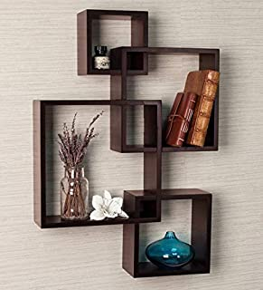 Clover Crafts™ Intersecting Floating Wall Mounted Shelf / Storage Shelves / Kitchen Shelves / Wall Decoration / Wall Rack...