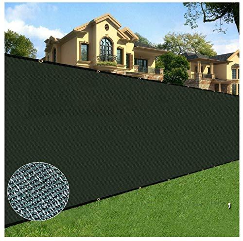 BOEN Sichtschutzzaun, Netzgewebe, Windschutzscheibe, mit verstärkten Aluminiumösen, für Gartenzaun oder jeden anderen Outdoor-Metall- oder Holzzaun, 1,8 m x 4,5 m, Schwarz