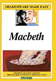 Macbeth - Modern English Version Side-By-Side with Full Original Text (Shakespeare Made Easy (Pb)) by William Shakespeare (1999-10-01) - Turtleback Books - 01/10/1999