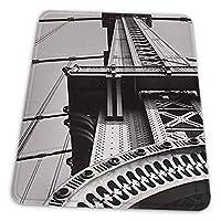 ゲーミングマウスパッド - ベレニスアボットニューヨークマンハッタンブリッジ マウスパッド おしゃれ ゲームおよびオフィス用/防水/洗える/滑り止め/ファッショナブルで丈夫 25x30cm