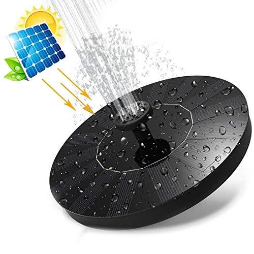 O-Kinee Effizient Solar Springbrunnen, Solar Teichpumpe mit mit 5 verschiedenen Spray Köpfe, Schwimmender Dekoration für Gartenteich Springbrunnen Vogel-Bad Fisch-Behälter