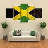 ARIE 5 Teiliges Wandbild Flagge Von Jamaika Hd Gedruckt 5 Stücke Leinwand Malerei Wandkunst Wohnzimmer Wohnkultur Weihnachten Kreative Geschenke