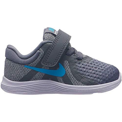 Nike Revolution 4 (TDV), Pantofole Unisex-Bimbi, Multicolore Hero/Pure Platinum/Blue Glow/Black 000, 19.5 EU