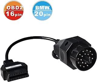 ASSEM®BMW 20 Pin OBD2 Round Diagnostic Scanner Adapter Cable for BMW E36 E46 E38 E39 E53 X5 Z3