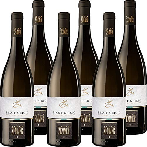 Pinot Grigio DOC   Peter Zemmer   Vino Bianco Alto Adige   Confezione 6 Bottiglie da 75 Cl   Idea Regalo