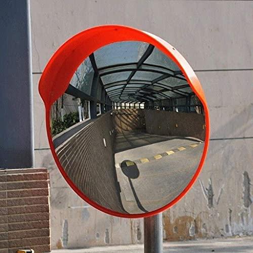 SMTAO Espejo de Tráfico Convexo Espejo Giratorio de Coche para Estacionamiento en la Carretera, Espejo de Tráfico de Seguridad Vial para Exteriores Espejo Convexo de Plástico Inastillable,Los 80Cm