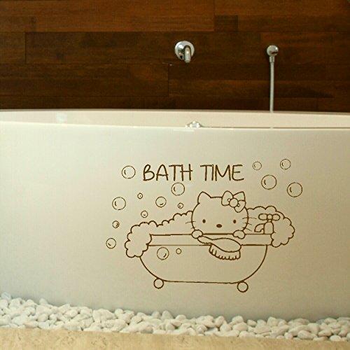 LaoGraphics - Adhesivo decorativo para pared, diseño de Hello Kitty con texto en inglés 'Hello Kitty'