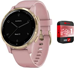 Garmin Vivoactive 4S GPS Smartwatch with Music & Fitness Activity Tracker & Health Monitor Apps (Dust Rose/Gold) 010-0217...