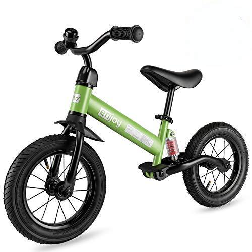 besrey Bicicleta sin Pedales Rueda de Goma Inflable Bicicleta Sin Pedales con Amortiguador Central - Verde